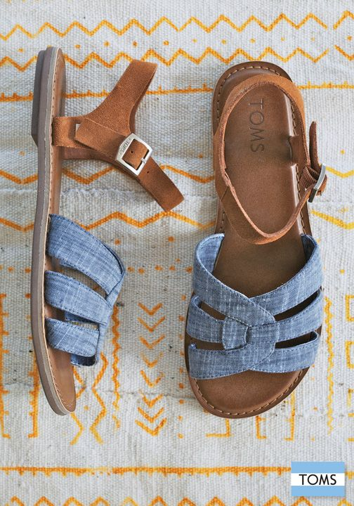 So cutie cute!  {TOMS sandals are designed for style, comfort and giving back to those in need.}