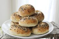 Everything Bagels - A Beautiful Mess // When I move into my next apartment I want to make these to christen the morning after everything is set up.