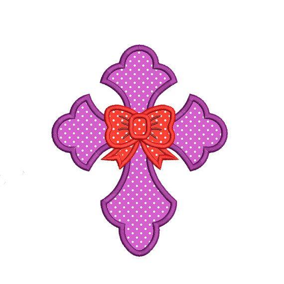 USD 2.99 Cross Bow Applique Embroidery Design. Machine by AnnaEmbDesign