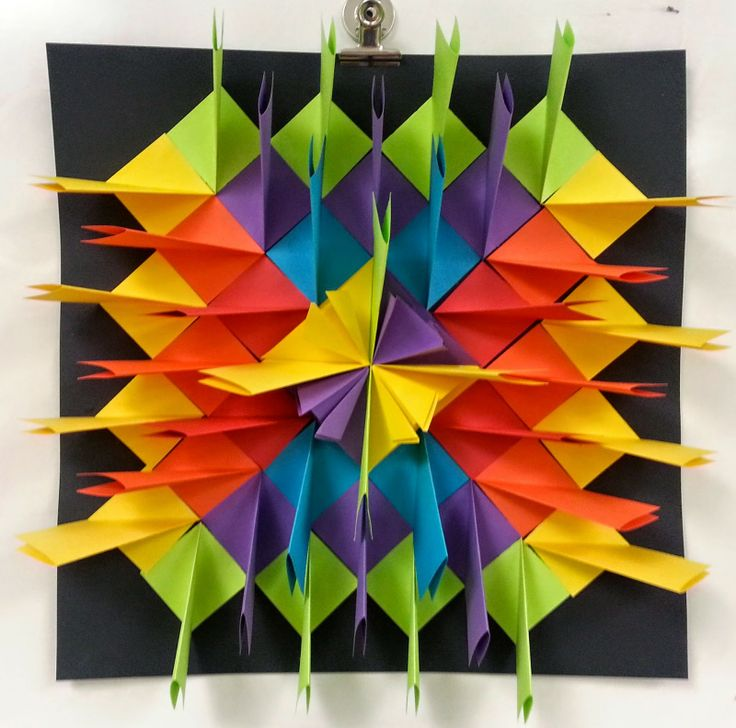 Art with Ms. Gram: Radial Paper Relief Sculptures (4th/5th) WITH TUTORIAL