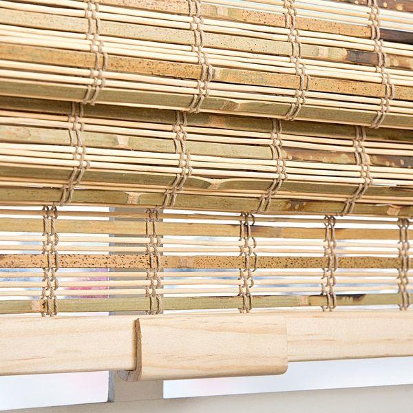 Arlo Blinds Petite Rustique Bamboo Cordless Roman Shade