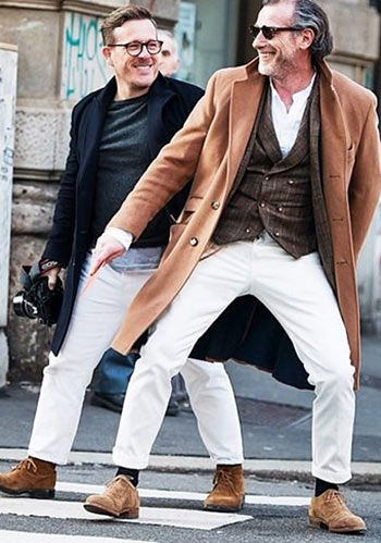 【冬】白パンツのコーディネート集(メンズ) | Italy Web