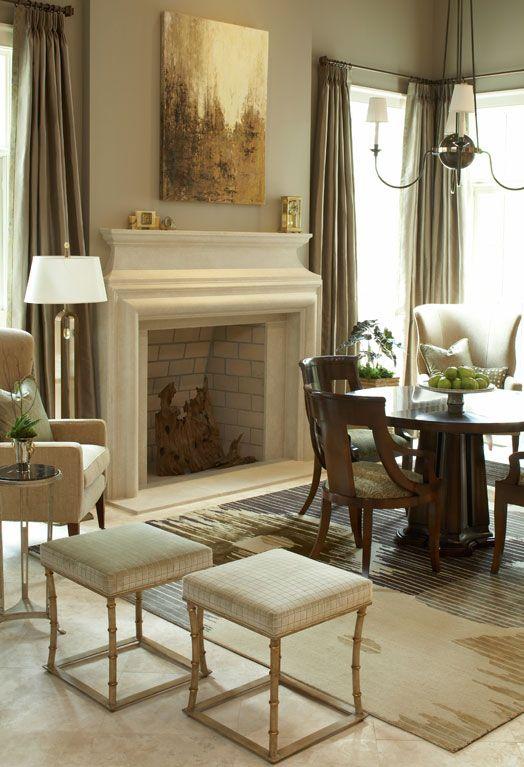 Mont Richard Stone Fireplace Mantel   Francois U0026 Co   Eclectic   Dining  Room   Atlanta   Francois U0026 Co