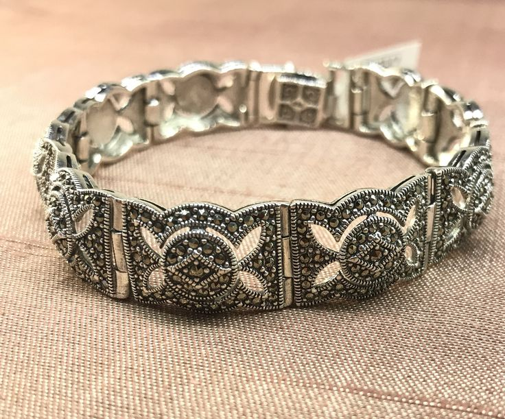 Love the intricate detail on this Art Deco Vintage inspired bracelet - now available in our half price sale for just €219 - shop online