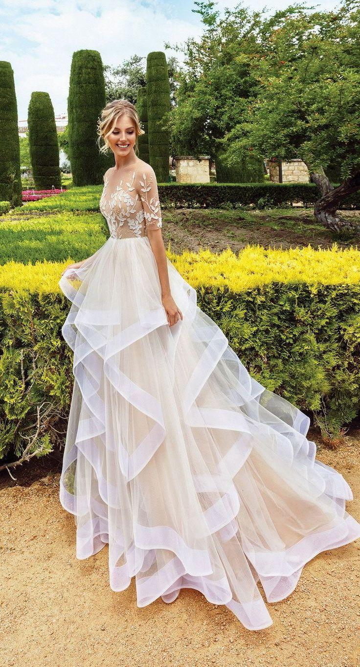 Wedding Dress Inspiration – Off the shoulder simple wedding gown ,wedding dresse…