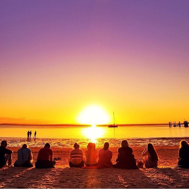 Fraser Island Australia: Sunset On Another Spectacular Day At Fraser Island In