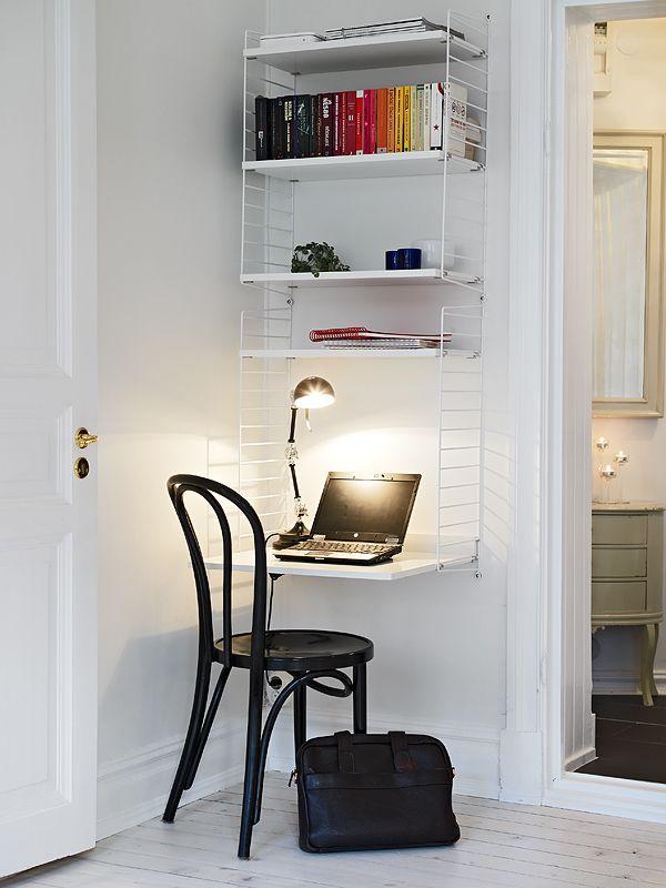 Att använda varje vrå kan vara ett måste när man bor litet eller om man har ett litet rum (tonårsrum ex). Jag gillar den här idéen. Luft...
