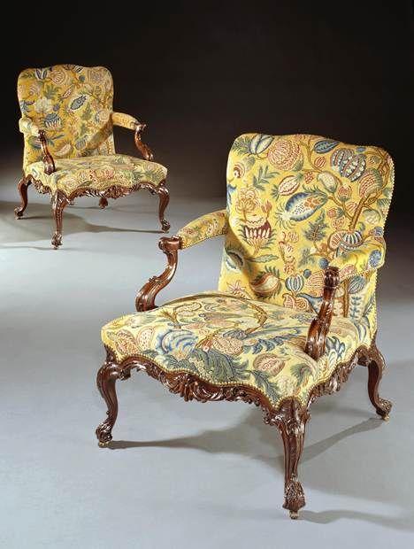 THE ECCLESHALL CASTLE CHAIRS - 1774 English Antique Furniture – Ronald Phillips Antique Dea...