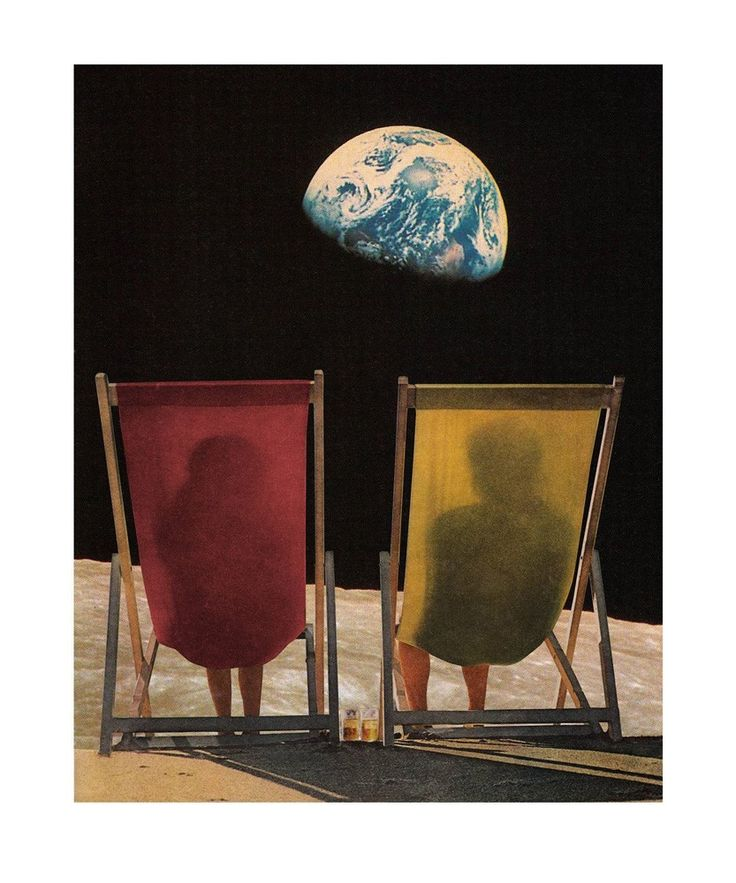 'Wish You Was Here – Red/Yellow' is a fantastic artrepublic Exclusive Giclee print from collage artist Joe Webb.