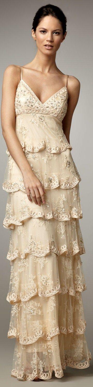 Sue Wong ruffle gown /kc