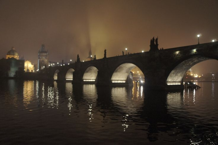 charles bridge at night^october 2012