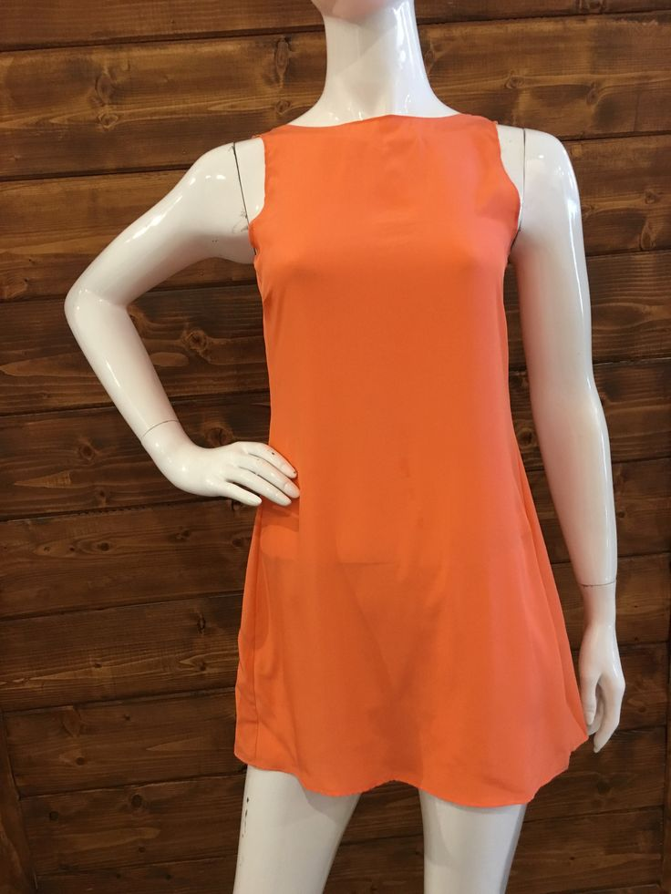ORANGE MINI DRESS