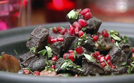 Lamb, olive and caramelised onion tagine Recipe by Nigella Lawson
