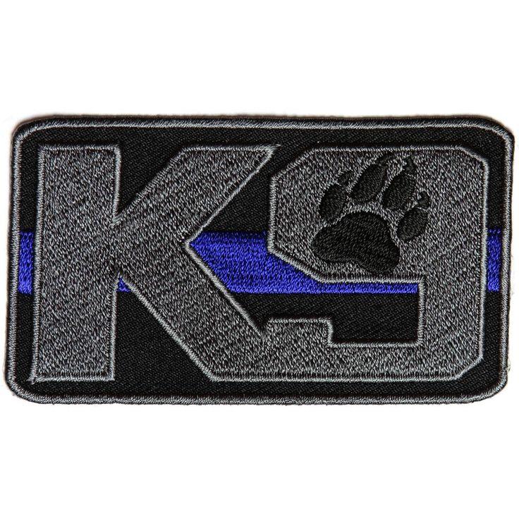 K-9 Thin Blue Line Patch for Law Enforcement