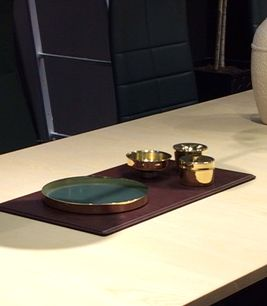 Candle case, Candle jar, and Candle cup of brass. Lammhults monter in Salone del Mobile Milano 2015.