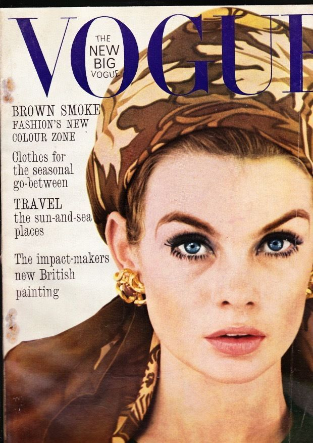 VOGUE August 1963 ~ Jean Shrimpton cover photo by David ...