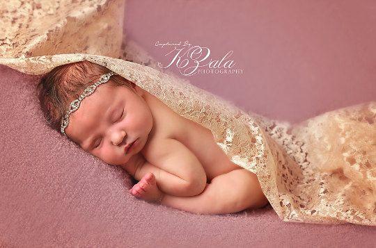 Neugeborenes Baby Stirnband Strass Stirnband von NewbornPhotoProp