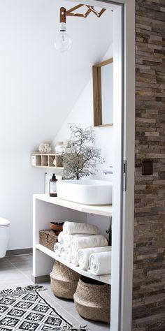 muebles pladur / 8 muebles auxiliares para el baño (DIY & obra) #hogarhabitissimo #rustic