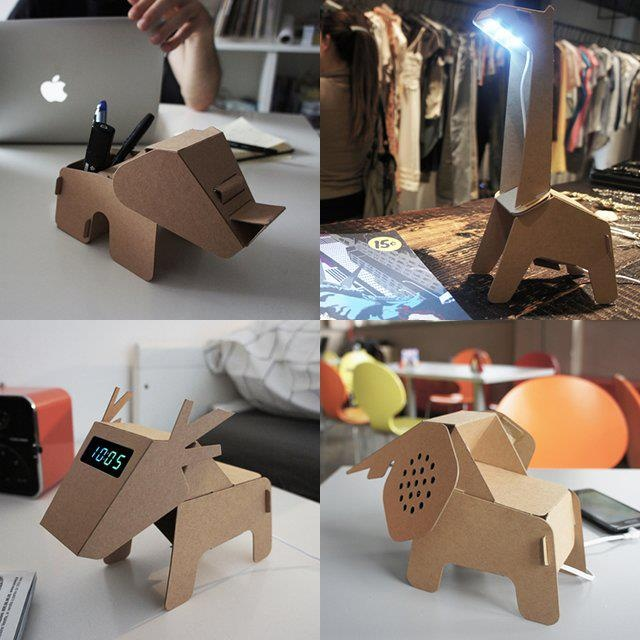 Un útil uso para el cartón reciclado: Wild Animal, Amazing Stuff, For, Office Design, Awesome Things, El Cartón