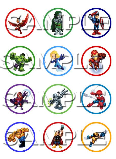 Printable Superhero Cake Toppers