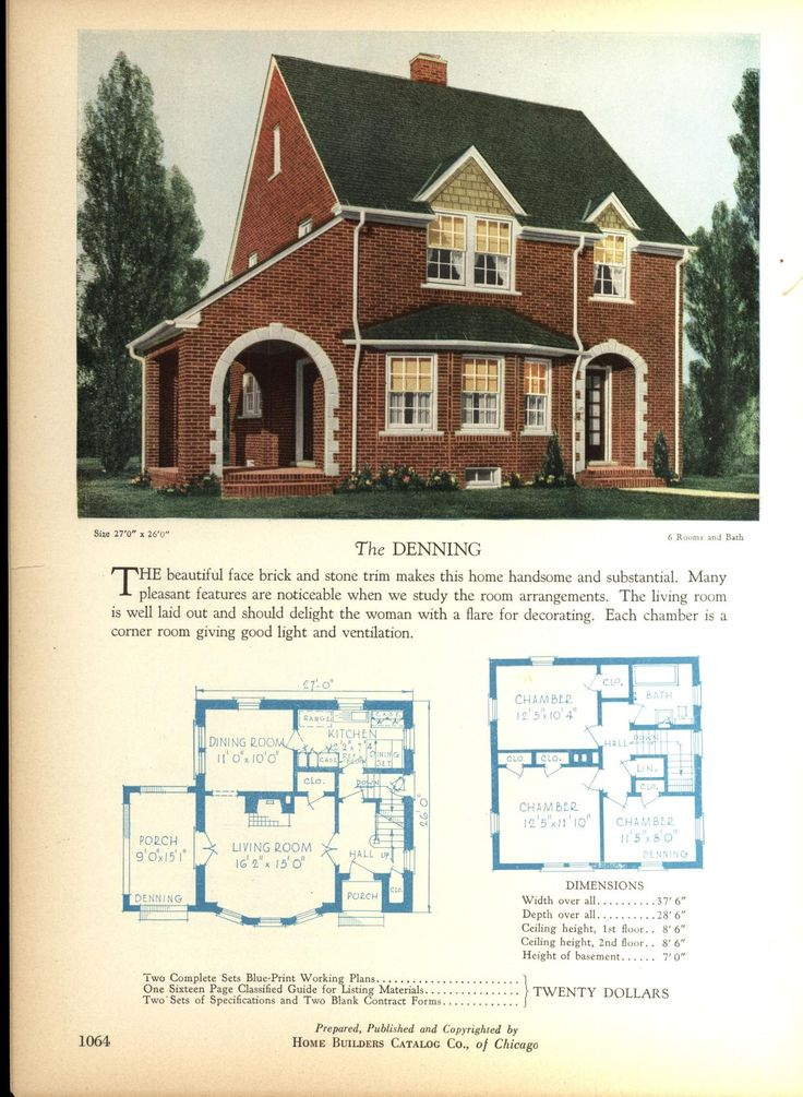 the denning home builders catalog plans of all types of small homes by home - Home Building Plans