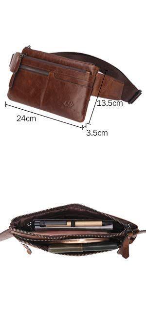182d8c0b26 Amazon.com | BISON DENIM Leather Waist Pack Fanny Pack Men's Hip Purse  Travel Hiking