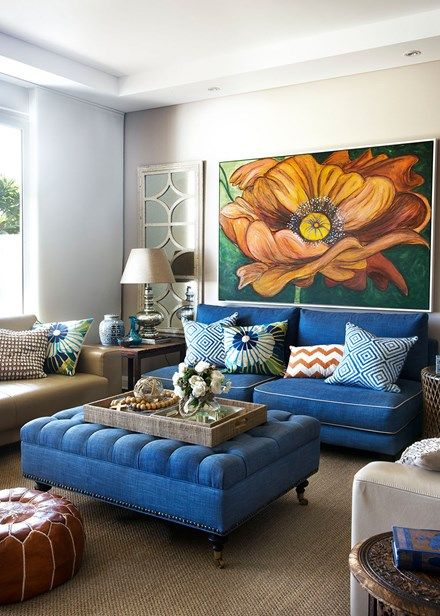 A compact living space packed with colour and style - Home Beautiful