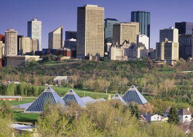 Downtown Edmonton buildings
