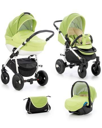 Tutis Zippy Orbit белая рама зеленая/белый кант  — 29400р. ----- Коляска 3 в 1 Tutis Zippy Orbit белая рама зеленая/белый кант - это транспортная система для детей от рождения до 3 лет. В комплект входят шасси, люлька, прогулочное сиденье, автокресло, дождевик, москитная сетка, сумка для мамы.