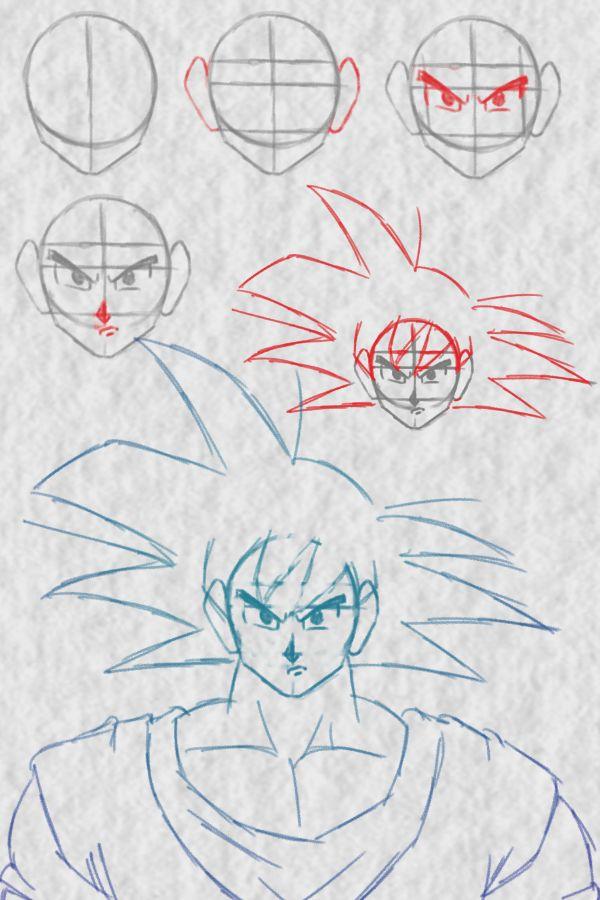 Como Desenhar O Goku Passo A Passo Com Imagens Goku Desenho
