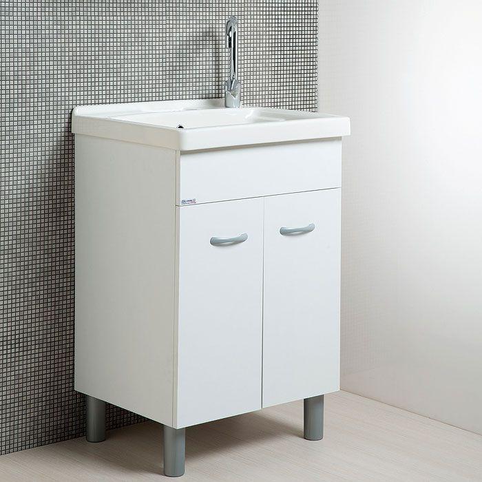 Lavatoio Ceramica Con Mobile Prezzi.Lavatoio In Ceramica 60x50 Reno Con Mobile Bianco Arredo