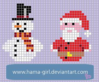 Xmas Characters perler pattern by Hama-Girl on deviantART