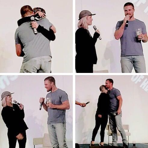 #Arrow  Stephen Amell(Oliver Queen) & Emily Bett Rickards(Felicity Smoak)