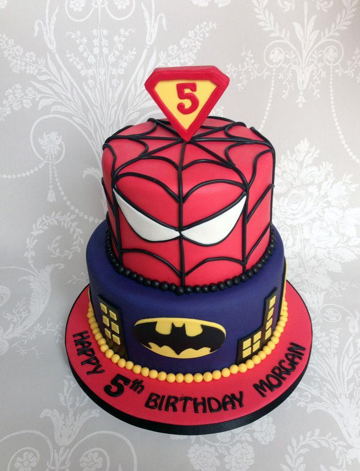 coloring pages batman spiderman cakes - photo#18