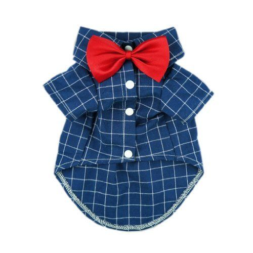 Fitwarm Gentle Formal Blue Dog Shirts for Pet Polo Clothes Apparel + Red Wedding Bow Tie, Small, http://www.amazon.com/dp/B00M1NQEMW/ref=cm_sw_r_pi_awdl_SRv8ub17ZE0NK