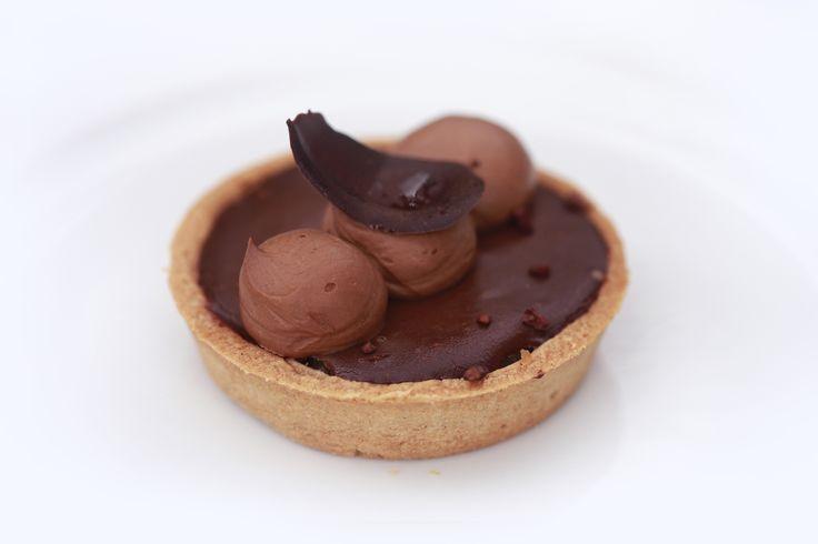 TARTELETTE SPÉCULOOS (GANACHE CHOCOLAT, POIRE ET ÉPICES) de la pâtissière Pascale Malo