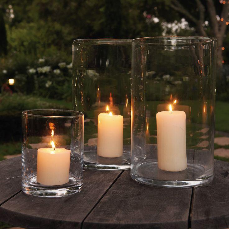Handmade Glass Hurricane - Small from The White Company