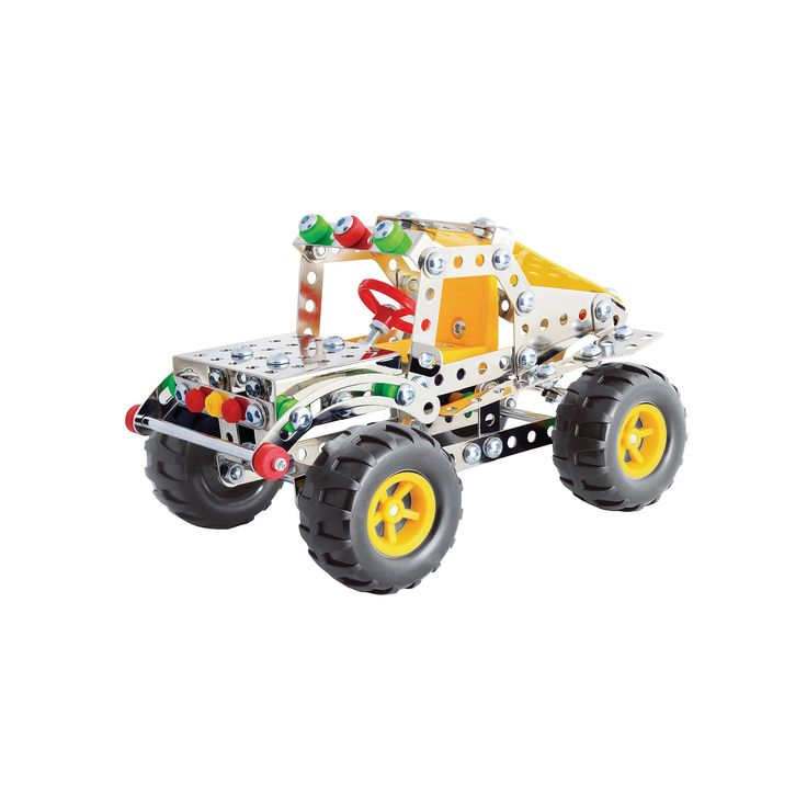 Steel Works Metal Dune Buggy Construction Set, Multicolor