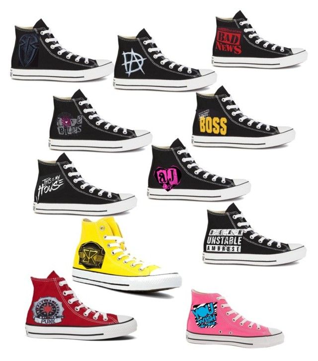 """Wwe converse"" by baileyxxwwe ❤ liked on Polyvore featuring Converse"