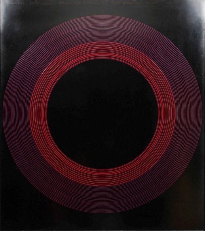 Ralph Hotere (New Zealand, 1931–2013), Requiem, 1973, Oil on Board.