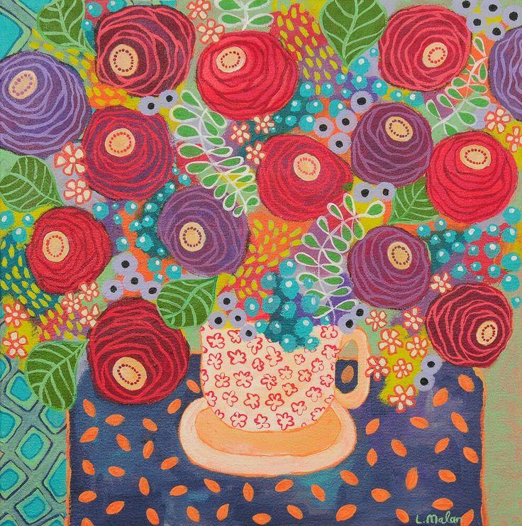 40 x 40cm Acrylic on canvas - Liesel Malan
