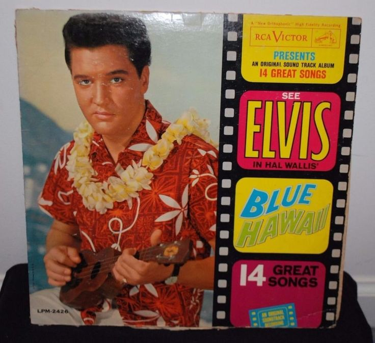 Rare ELVIS PRESLEY BLUE HAWAII , Vtg Rock Vinyl Music Record Album #Rock