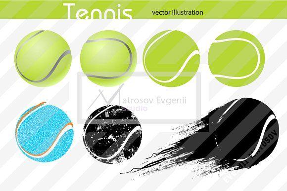Silhouettes Of A Tennis Ball Set Tennis Ball Computer Logo Graphic Illustration