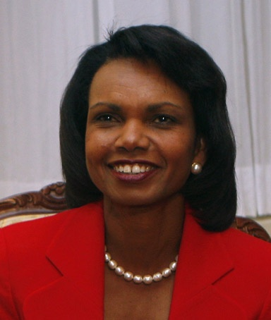 Condoleeza Rice. Condoleeza Rice was the first woman to ever to serve as the head of the National Security Council. In 2005 Rice became the first African American woman to serve as Secretary of State. She's such a real woman, and she speaks Russian fluently and plays classical piano like a boss.