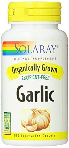 Solaray Organic Garlic Supplement, 600 mg, 100 Count //Price: $8.05 & FREE Shipping //     #hashtag1