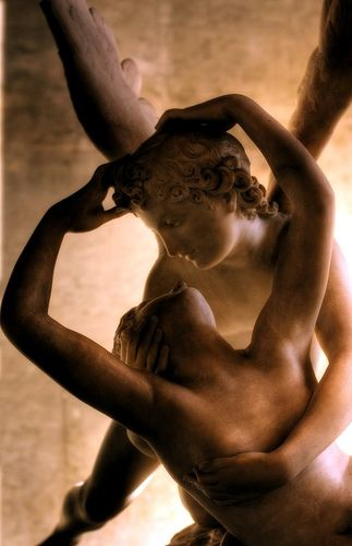 Psyche Revived by Cupid's Kiss' detail  Antonio Canova.     Love, frozen in time