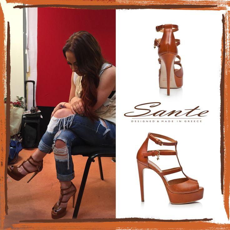Melina Aslanidou in SANTE Sandals #santeSS15 Collection #SanteLovers  Shop online: www.santeshoes.com