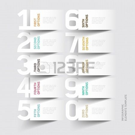 Abstract infographics number options template. illustration. can be used for workflow layout, diagram, business step options, banner, web design