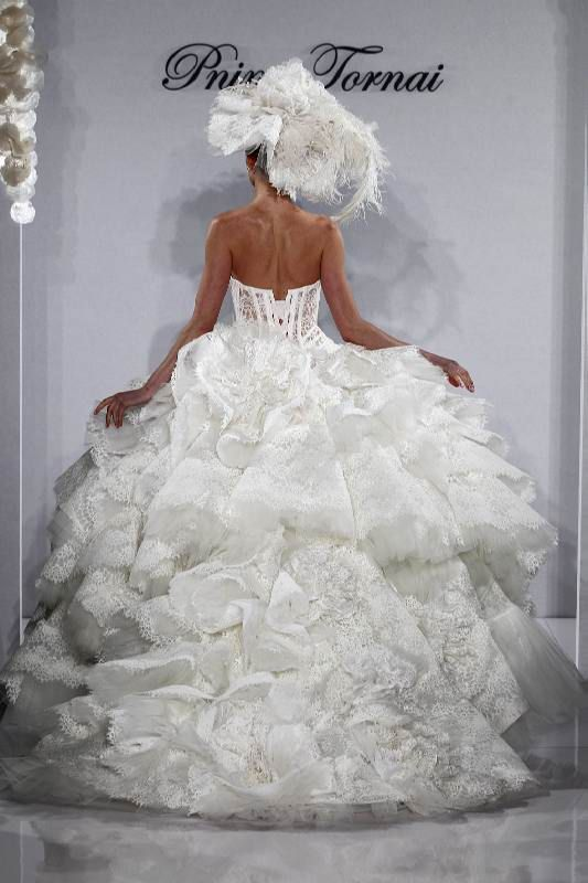Pnina Tornei Wedding Dress (Veil is freaking ugly but otherwise, the dress is gorgeous )
