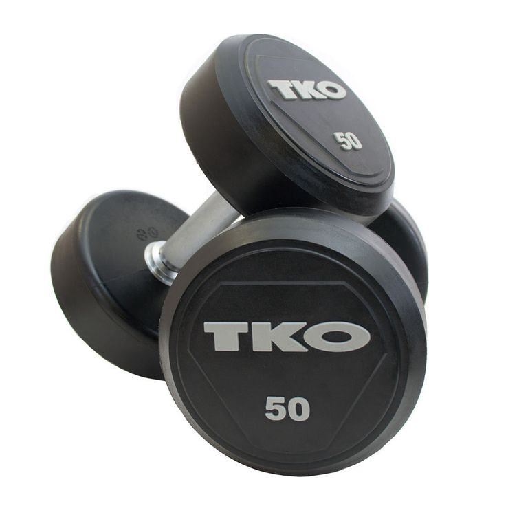 TKO SOLID STEEL RUBBER DUMBBELLS